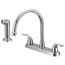 Ez-Flo 10201 Two-Handle Kitchen Faucet Chrome