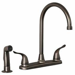 Builders Shoppe 1210BZ Two Handle High Arc Kitchen Faucet wi
