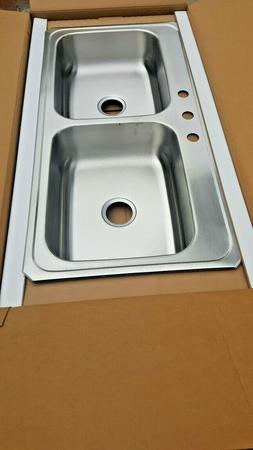 """80-Sink NEW 43""""x22"""" Stainless Kitchen Elkay Appliance Faucet"""