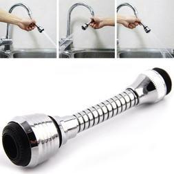 1Pc Sink Mixer Kitchen Chromed Swivel Tap Faucet Nozzle Spra
