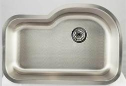 21.25 in. Kitchen Sink for Deck Mount Faucet in Chrome