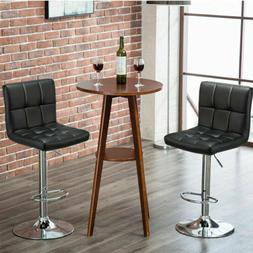 2PCS Bar Stools Adjustable Swivel Pub Counter Height Dining