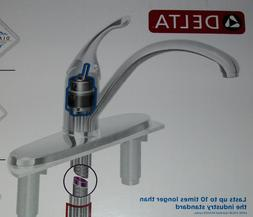 DELTA 336-DST KITCHEN SINGLE HANDLE LEVER FAUCET WITH CROME