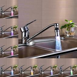 360°Water Glow Faucets LED Light Kitchen Tap Temperature Se