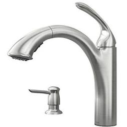 Moen 87035SRS Pullout Spray Kitchen Faucet with Soap Dispens