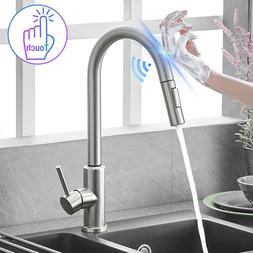 Automatic Touch Sensor Kitchen Faucet with Pull down Sprayer