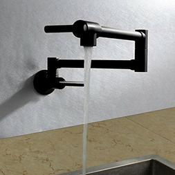 Brass Pot Filler Black Extend Kitchen Faucet Double Joint Ta