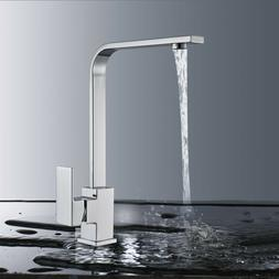 Brushed Nickel LED Kitchen Sink Faucet Pull Out Sprayer 1 Ha