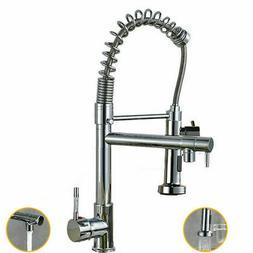 chrome kitchen faucet swivel spout single handle