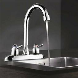 Chrome Kitchen Swivel Spout Single Handle Sink Faucet Pull D