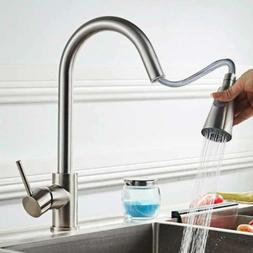 Commercial Kitchen Sink Faucet Stainless Steel Single Handle