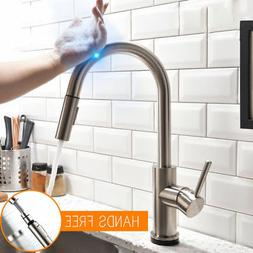 Convenient Brushed Nickel Assistive Touch Kitchen Faucet wit