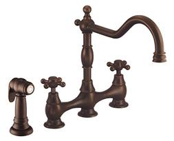 Danze D404457BR Opulence Two Handle Kitchen Faucet with Side