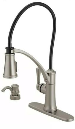 Delta Foundry Single-Handle Pull-Down Sprayer Kitchen Faucet