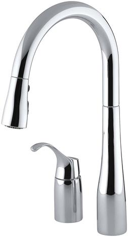 Kohler K-647-CP Polished Chrome Simplice Pull-Down Kitchen S