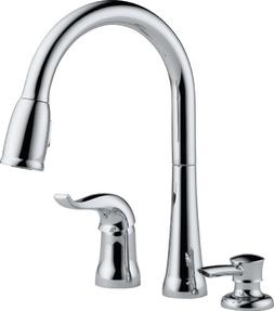 Delta Faucet Kate Single-Handle Kitchen Sink Faucet with Pul