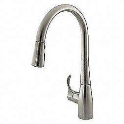 """KOHLER Kitchen Faucet,16-5/8"""" Height,1 Hole, K-596-VS"""