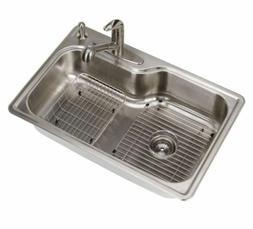Kitchen Sink 33 Inch 18 Gauge Drop In Stainless Steel Single
