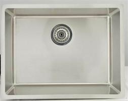 Kitchen Sink for Wall Mount Faucet in Stainless Steel