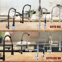 Kitchen Spring Faucet Swivel Sink Bar Pull Down Sprayer Sing