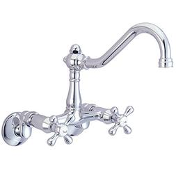 Kingston Brass KS3221AX Wall Mount Kitchen Faucet with Metal