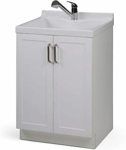 "Simpli Home Kyle 24"" Laundry Cabinet with Pull-out Faucet an"
