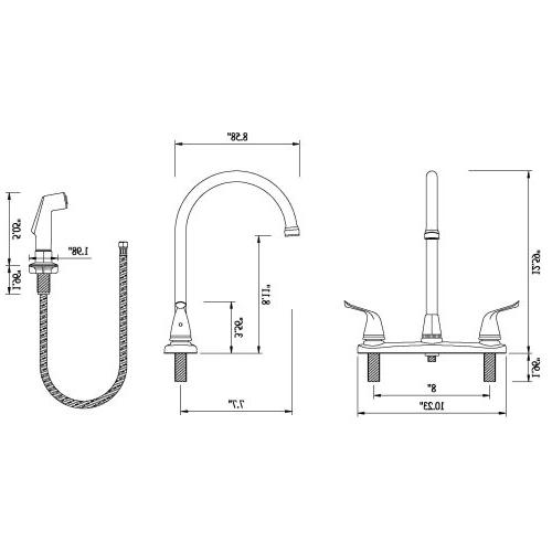 Builders Handle High Arc Faucet Spray Brushed Bronze Finish