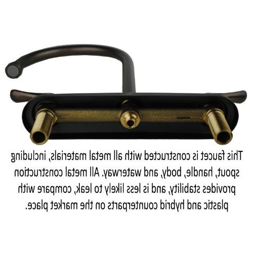 Builders Shoppe Two Handle Arc Faucet with Bronze