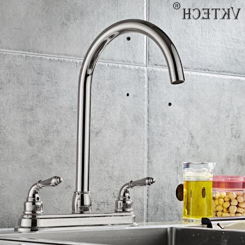 2-handle Dual Water Tap <font><b>Kitchen</b></font> Sink <font><b>Sprayer</b></font>