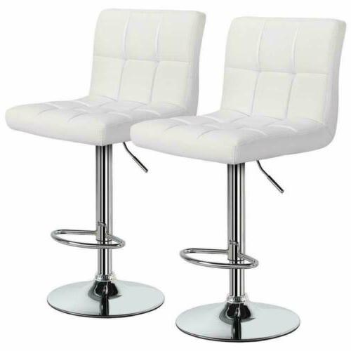 2 pcs adjustable bar stools counter height