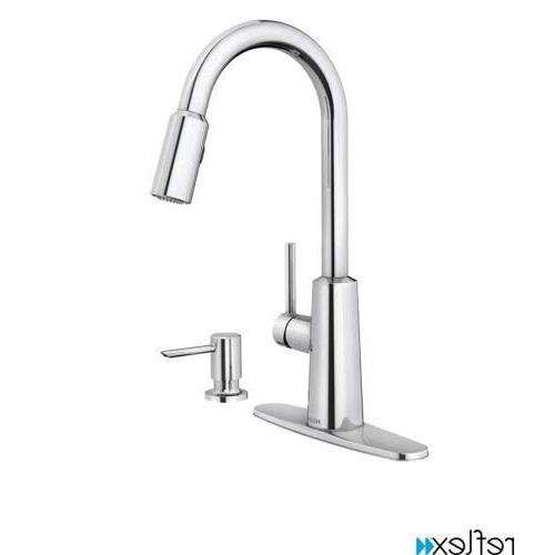Moen 87066 Pullout Spray High-Arc Kitchen Faucet with Soap D
