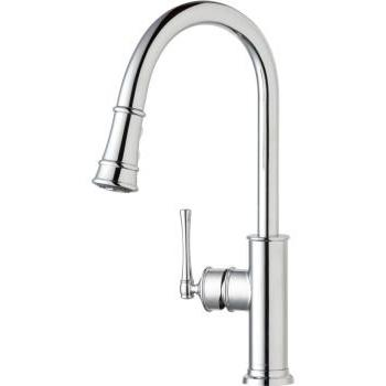 Elkay LKEC2031CR Explore Single Hole Kitchen Faucet with Pul