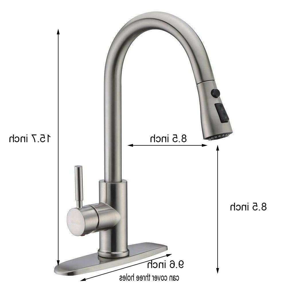 WEWE Nickel Kitchen Faucet Sink Pull Sprayer Cover