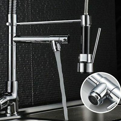 Chrome Kitchen Faucet Spout Handle Sink Pull Down Tap