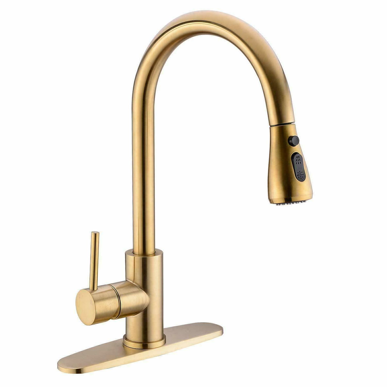 chrome brass kitchen faucet pull