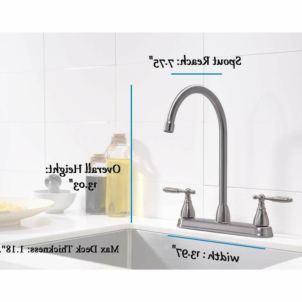 Commercial Modern Nickel Kitchen Metal Sink Faucet