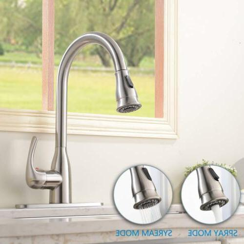 Commercial Single Handle Steel Out Kitchen Sink