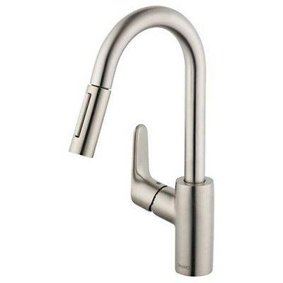 Hansgrohe Focus Pullout Spray 1 Kitchen Faucet 04506801 Stee