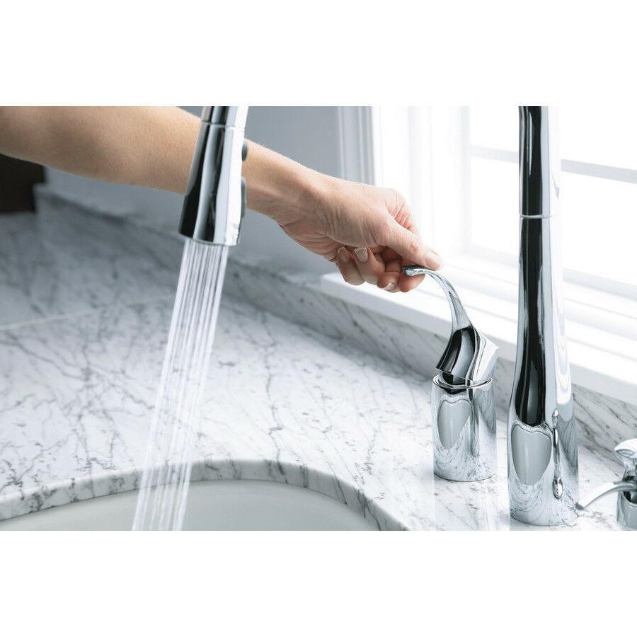 Kohler K-647-CP Polished Chrome Simplice Pull-Down Kitchen Sink Faucet