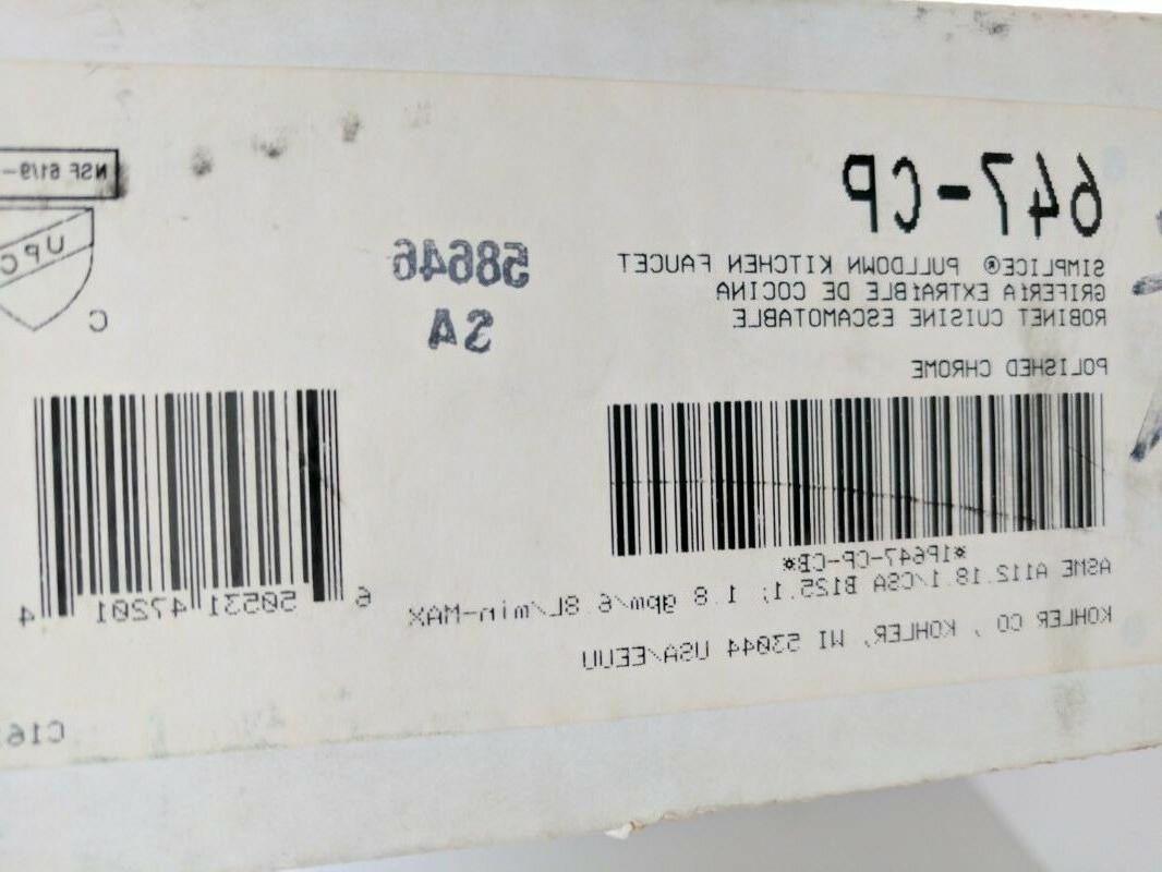Kohler K-647-CP Polished Simplice Sink Faucet