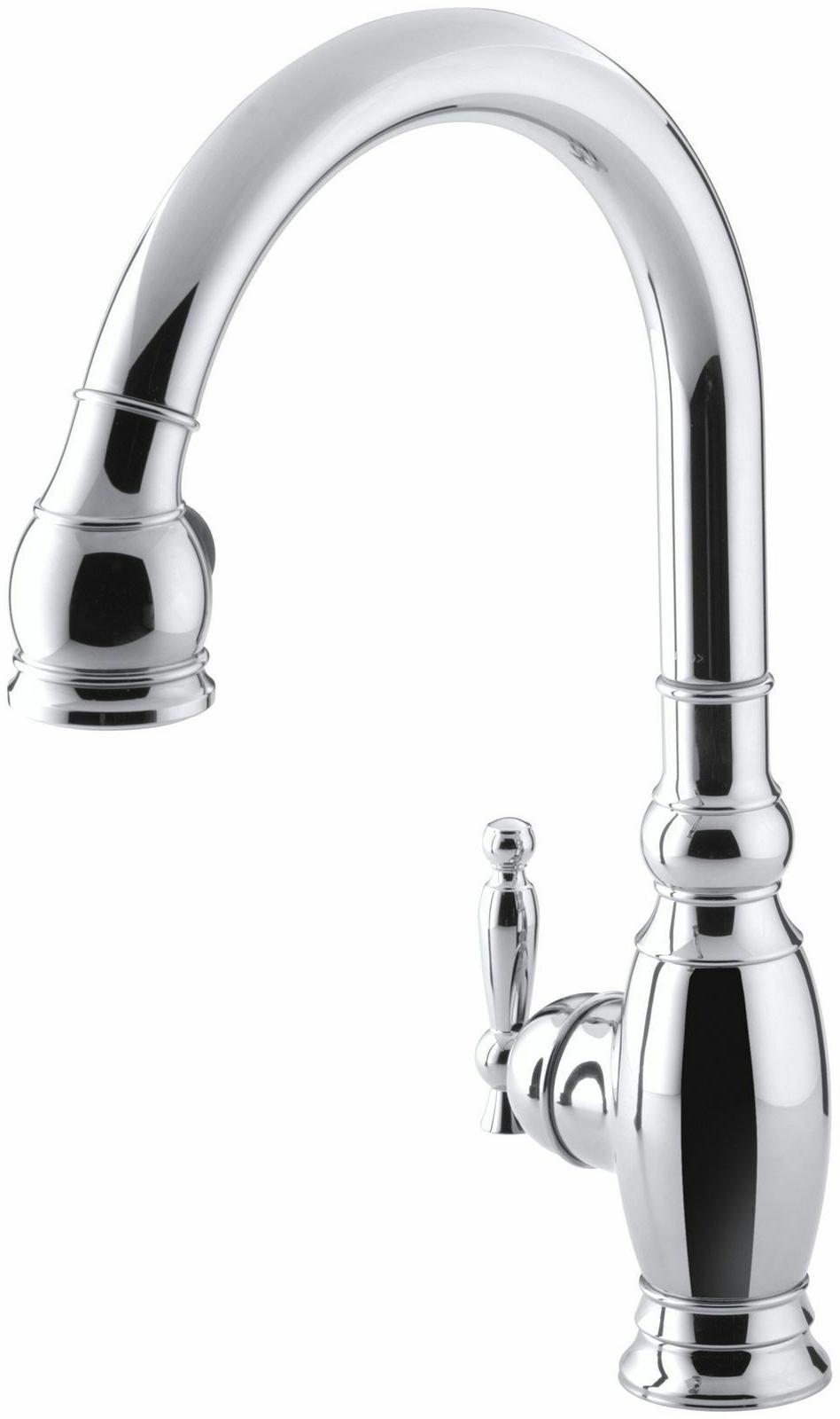 KH K-690-CP Vinnata Single-Hole or Three-Hole Kitchen Sink F