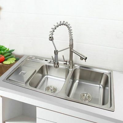 kitchen brushed nickel mixer faucet and 2