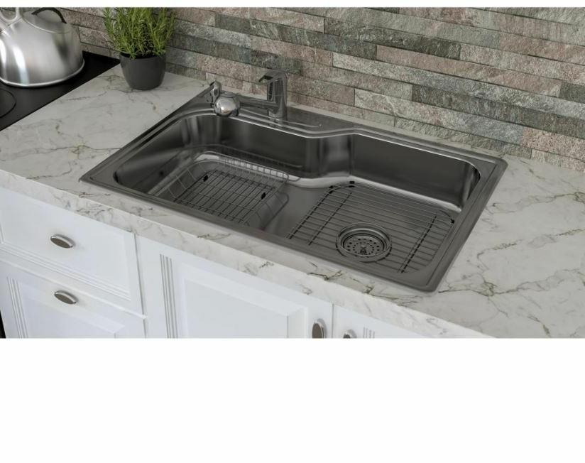 Kitchen Sink 33 18 Stainless 4 Faucet