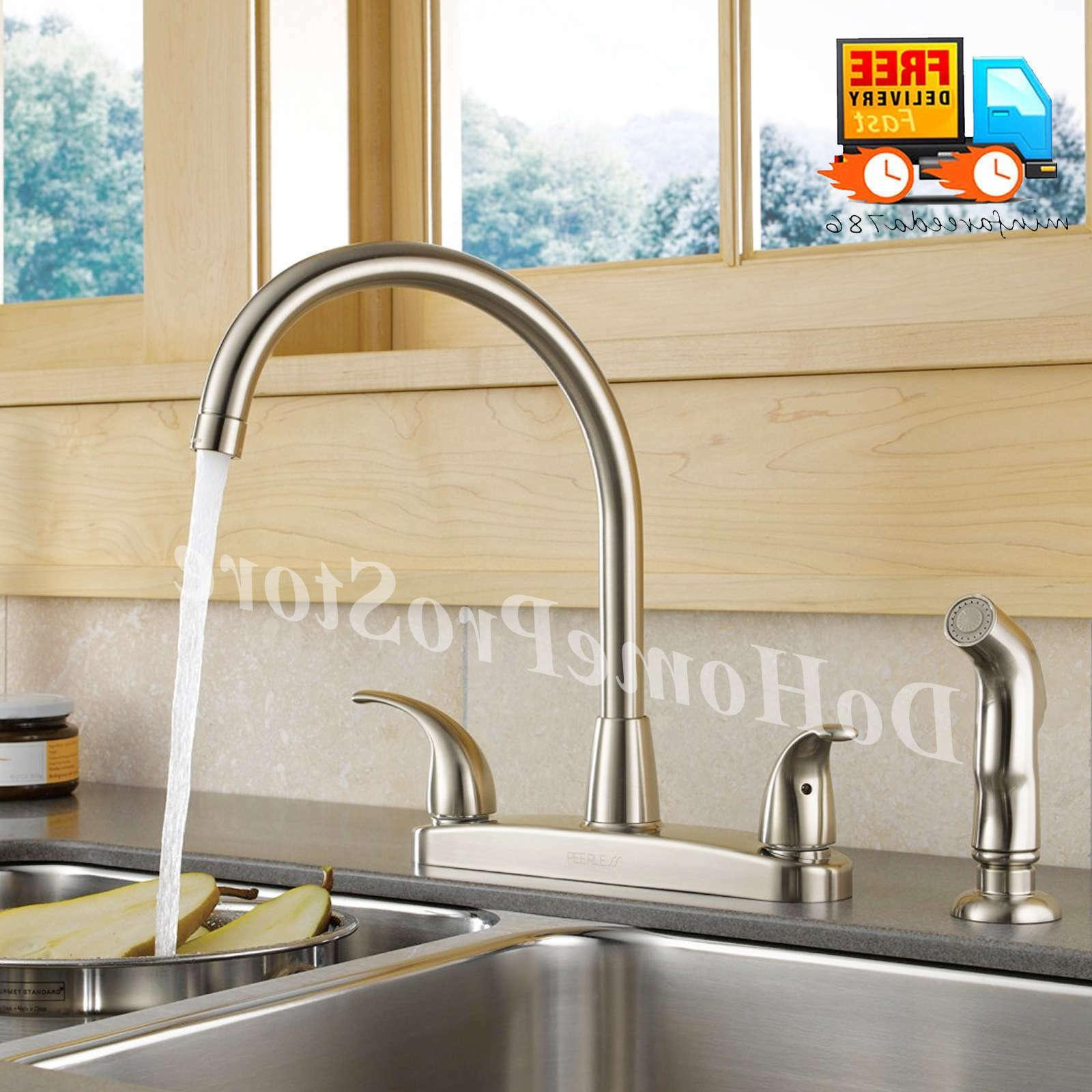 Kitchen Sink Side Brushed Nickel Two High 4