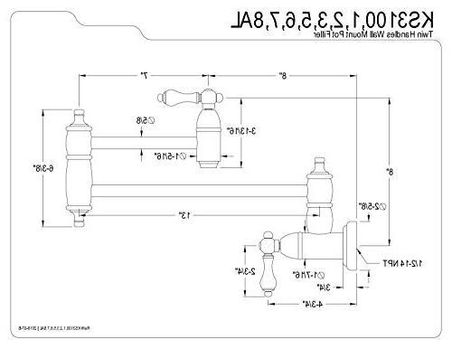 Kingston Brass Filler, Lever Polished Chrome