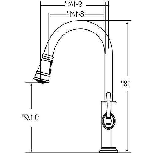 Elkay LKEC2031 Kitchen Faucet Single Handle; Steel