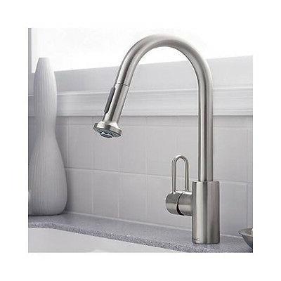 metro e high arc kitchen faucet steel