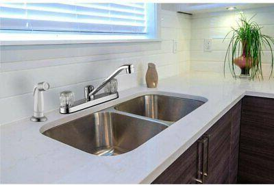 new aragon kitchen faucet with side sprayer