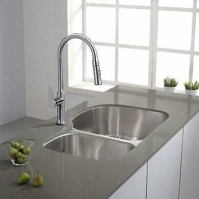 Kraus Lever Spray Head Kitchen Faucet,