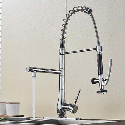 Polished Chrome Spring Kitchen Pre Rinse Pull Tap